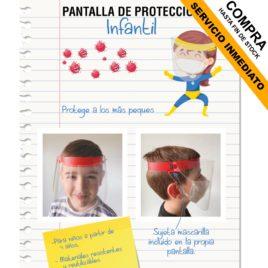 "Pantalla facial <p> niños </p><p style=""background:orange; color:black; font-weight:bold; solid orange;"">Desde 2,00 €/und</p>"