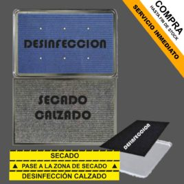 "Kit de Alfombras + cubeta <p> + pegatinas </p><p style=""background:orange; color:black; font-weight:bold; solid orange;"">Desde 66,90 €/und</p>"