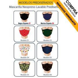 """Mascarilla Neopreno <p> Prediseñada </p><p style=""""background:orange; color:black; font-weight:bold; solid orange;"""">Desde 2,50 €/und</p>"""
