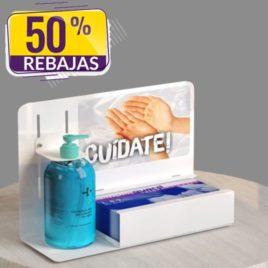 "Mueble dispensador <p> Sobremesa </p><p style=""background:orange; color:black; font-weight:bold; solid orange;""><strike>Antes 60€</strike>Ahora 30,00 €/und</p>"
