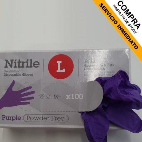 guantes nitrilo morados