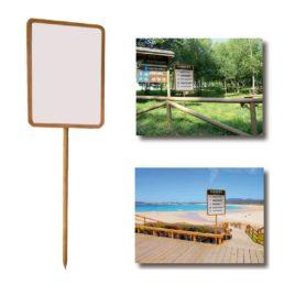 """Panel de señalización <p> para playa y jardín </p><p style=""""background:orange; color:black; font-weight:bold; solid orange;"""">Desde 75,00 €/und</p>"""