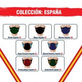 """Mascarilla Neopreno <p> Colección España </p><p style=""""background:orange; color:black; font-weight:bold; solid orange;"""">Desde 2,50 €/und</p>"""