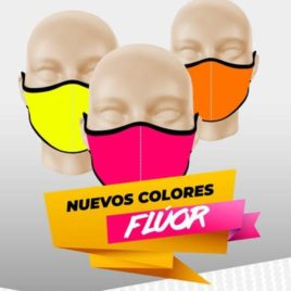 "Mascarilla Neopreno <p> Lisa Fluor </p><p style=""background:orange; color:black; font-weight:bold; solid orange;"">Desde 3,10 €/und</p>"