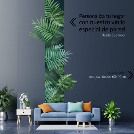 Vinilo especial pared